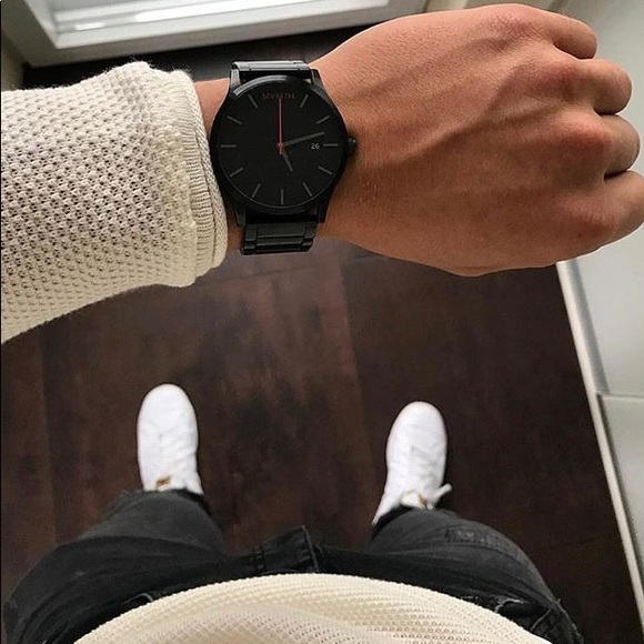 a6db48d31af0 MVMT Men's Signature Black Link Watch 45MM. M_5a347ca25521be761d020da0